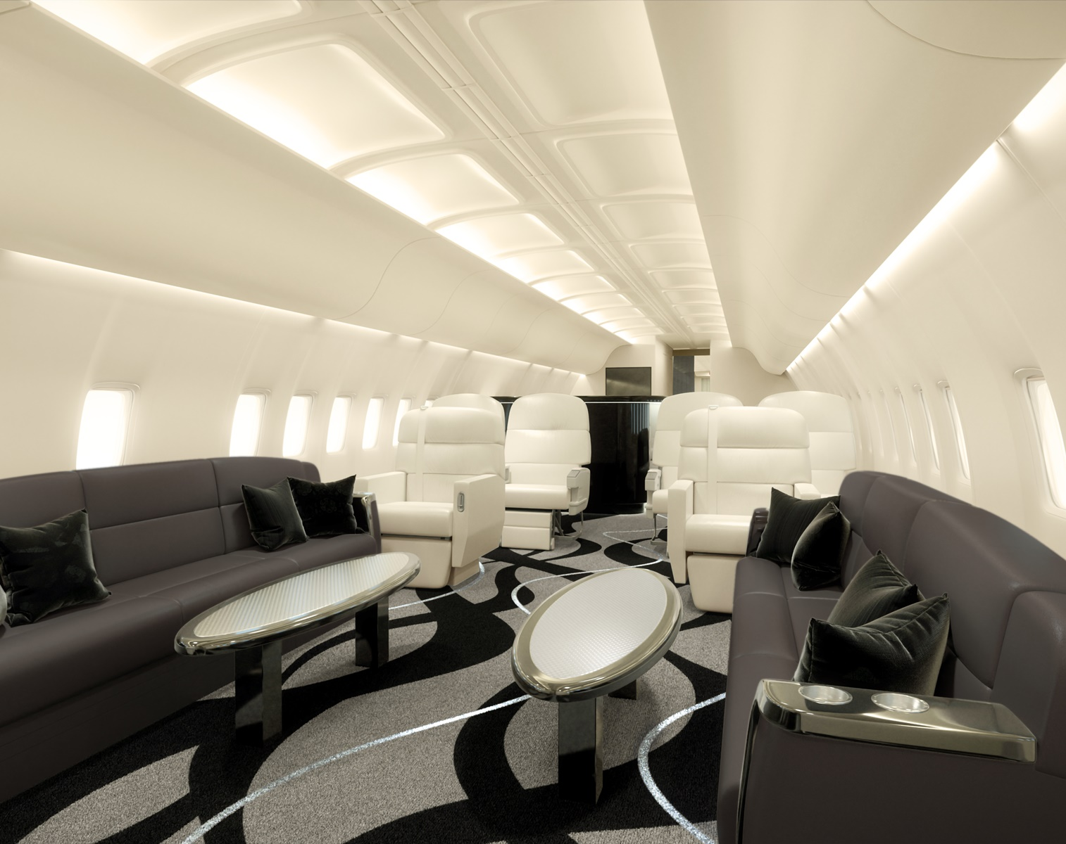 Luxurious Solutions for Private Jet Interior Design