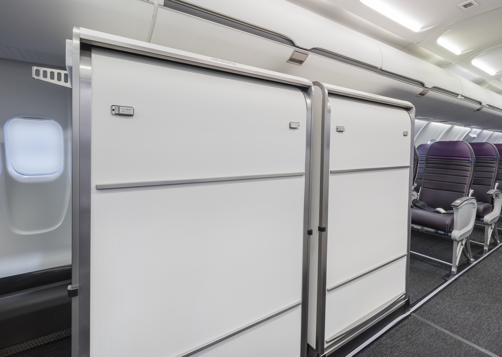 Airplane interior dividers