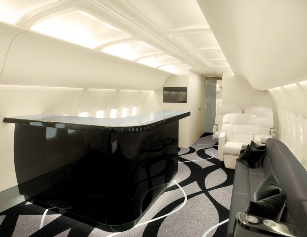 757 BBJ Private Jet Bar