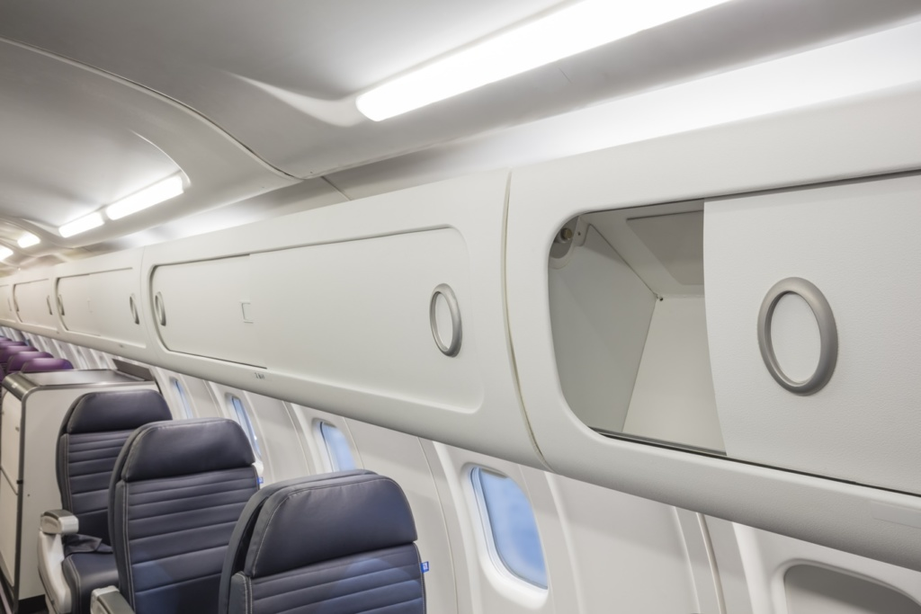Overhead bins for aircraft